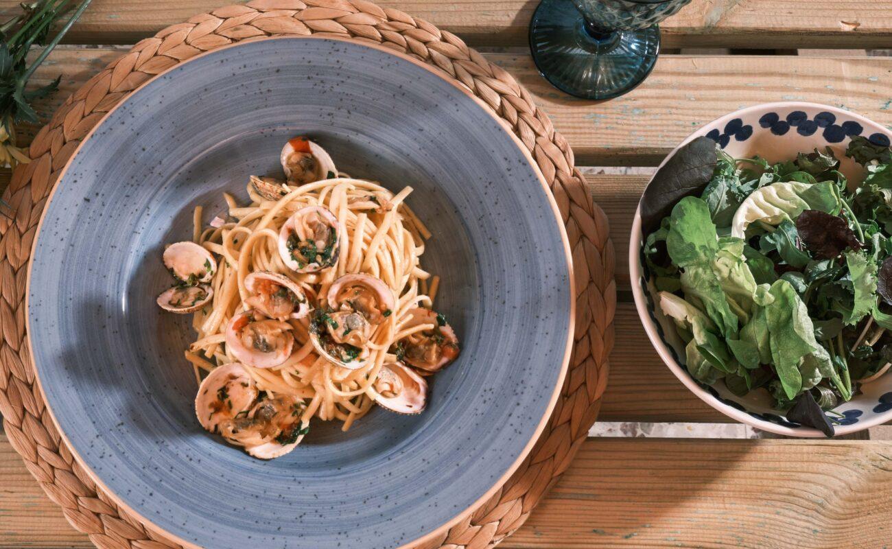 Πικάντικα Λιγκουίνι με Κυδώνια –  Piccante Linguini con Vongole