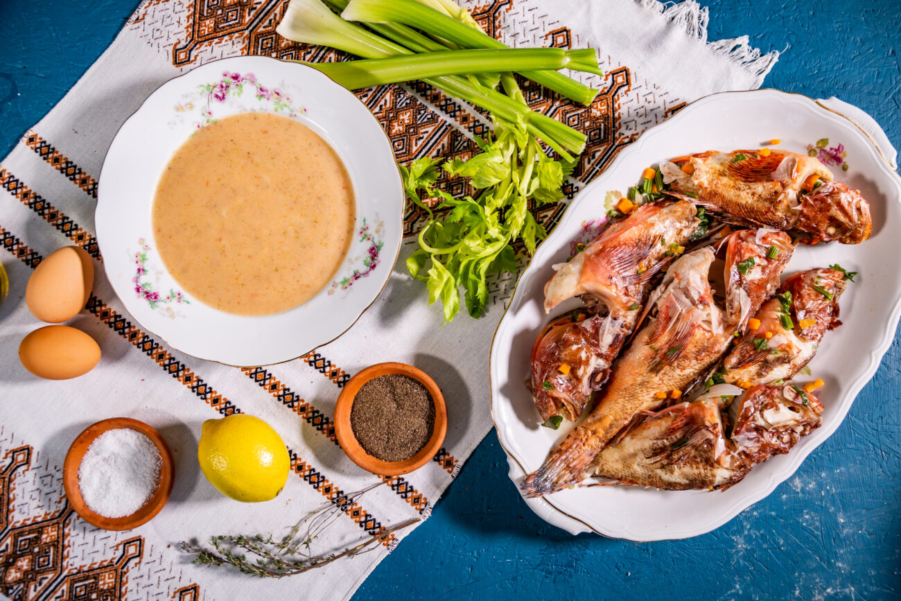 Ψαρόσουπα αυγολέμονο, Αμμόχωστος